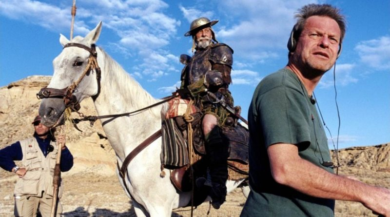 Terry Gilliam en 2002 durante el documental Lost in La Mancha.