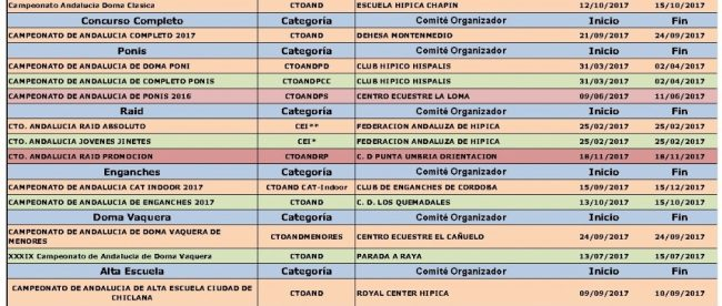 Fuente: Federación Andaluza de Hípica.