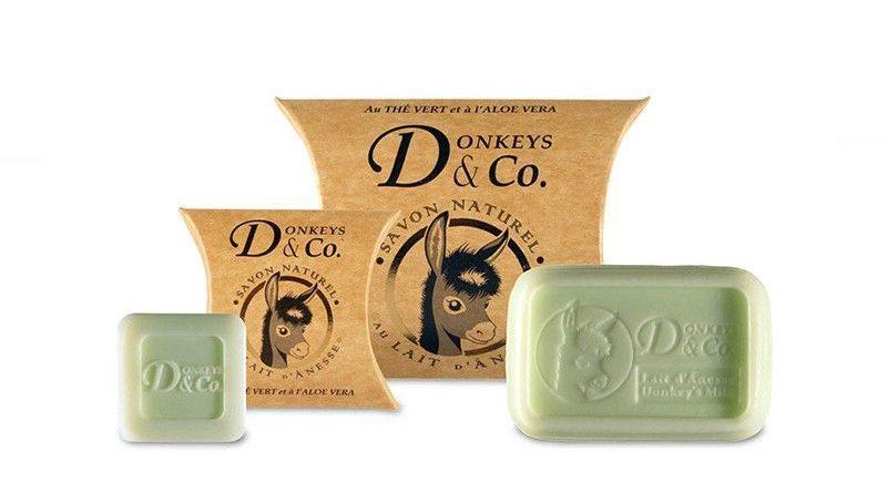 Jabones de leche de burra anunciados en la web cremitasverdes.com