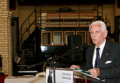 El homenajeado durante el discurso de agradecimiento el pasado miércoles en la Hacienda Montelirio, en Dos Hermanas, Sevilla.
