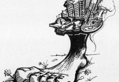 Representación de la huella ecológica incluida en el trabajo de Manuel Calvo, creador del Plan de la Bicicleta de Sevilla.