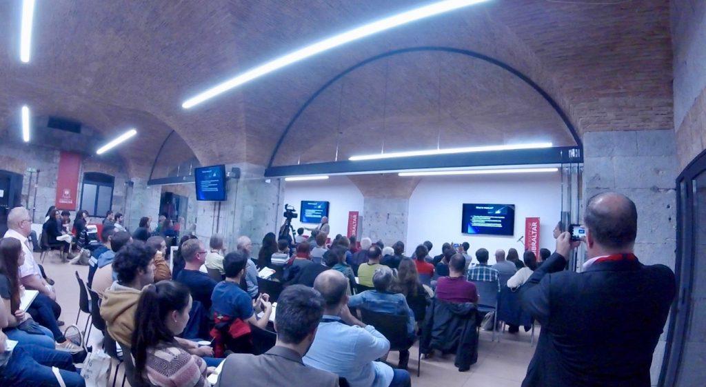 El biólogo Rodrigo Medellín, durante la conferencia del viernes en la VII Jornadas Secemu, celebradas en la Universidad de Gibraltar.