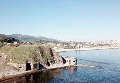 El búnker triple 323 se asoma en la punta de Getares, Algeciras. Foto y vídeo: H.P.