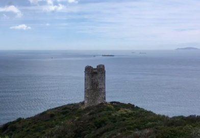 La torre del Fraile, torre almenara algecireña, esta primavera. Vídeo y foto: Horse Press.